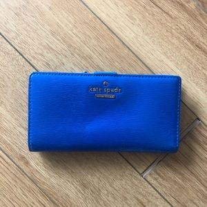 Blue Stacy wallet kate spade